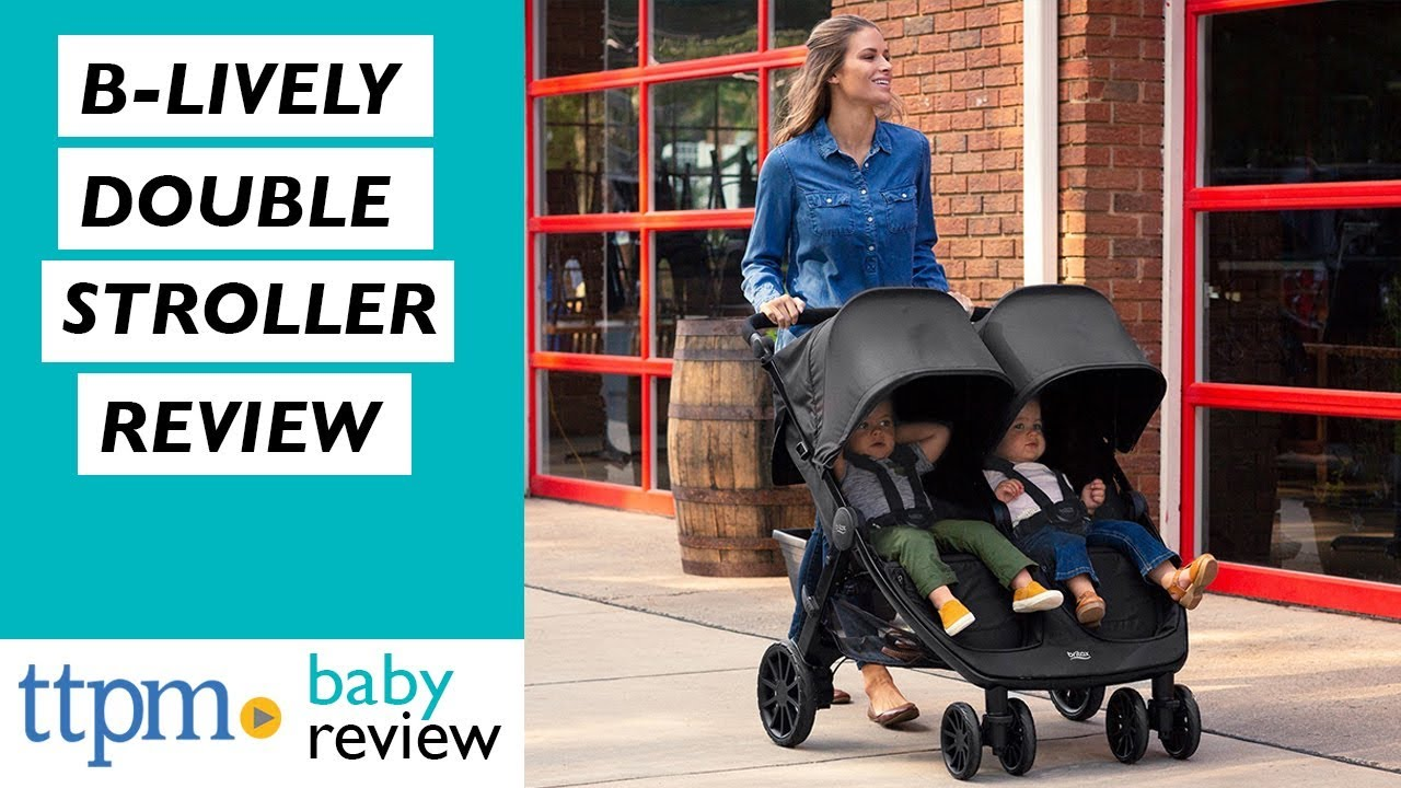 Britax Double Pushchair Reviews B Lively Double Stroller From Britax