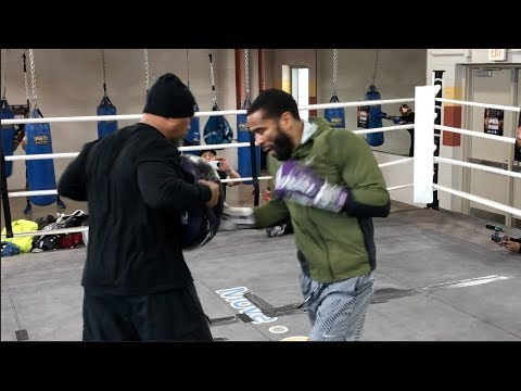 IS THIS THE MAN TO STOP ERROL SPENCE JR?! LAMONT PETERSON WORKS ON TECHNIQUE W/ BARRY HUNTER