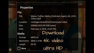 How to Download 4K video song Ultra HD