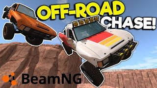 NEW Off-Road Truck Mod Chases & Crashes! - BeamNG Gameplay & Crashes - Truck jumps & Stunts