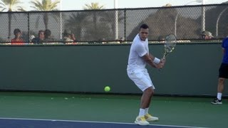 Jo-Wilfried Tsonga Backhand In Super Slow Motion - Indian Wells 2013 - BNP Paribas Open
