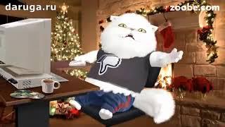 Кот на новый год стихи читает