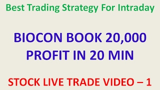 INTRADAY TRADING STRATEGY PROFIT 20000 IN 15 MIN | How Buy |live stock trades profit 20K IN 15 MIN