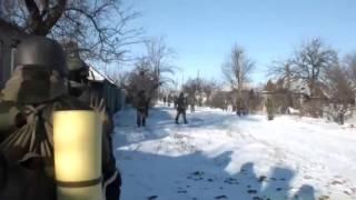Война на Украине Уличные бои в Дебальцево видео 2