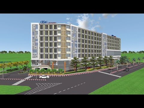 3D Hotel BW Luxury and Garden - Realtime Landscaping Architect