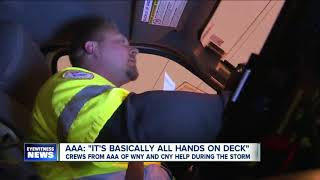Crews from AAA of WNY and CNY help during the storm