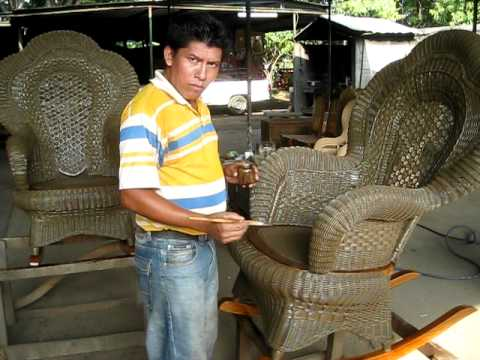 Muebles de mimbre wicker furniture painting youtube for Muebles de mimbre