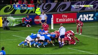 Russian scrum destroyed by Italy in the Rugby World Cup