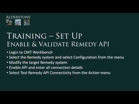Set Up - Configure & Validate Remedy API