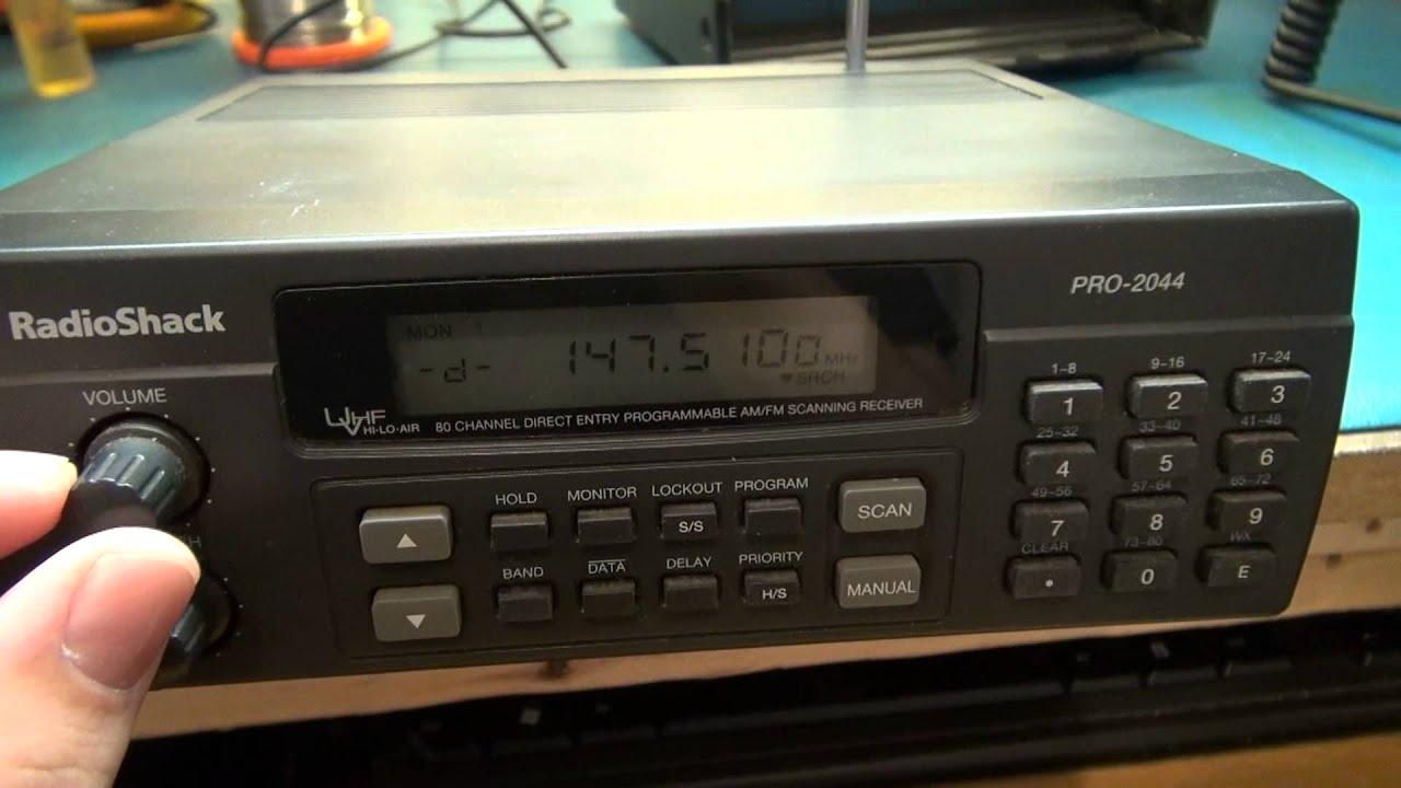 SCANNER REPAIR- RADIO SHACK PRO-2044