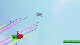La Aviación china muestra su poderío en la Plaza de Tiananmen