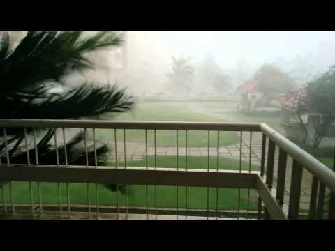 Incredible wind gusts in East Bangalore, India