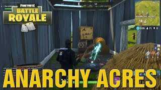 "Fortnite How To Find ""ANARCHY ACRES Treasure Map Secret Location Week 5 Battle Pass Challenge Guide!"
