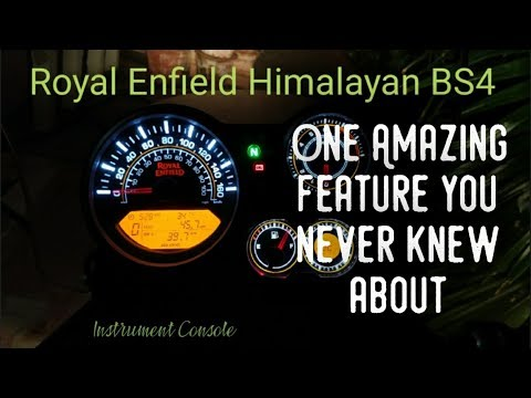 Royal Enfield Himalayan BS4: Part 3 (INSTRUMENT CONSOLE)