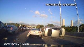 H-1 crash (Video: Vu Khuong)