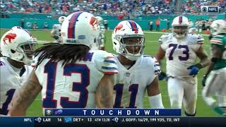 Every Josh Allen PASS and RUSH in 2018 Week 13 vs Miami