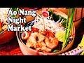 Ao Nang Night Market. Delicious Thai Street Food in Ao Nang Krabi Thailand.