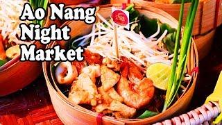 Ao Nang Night Market. Delicious Thai Street Food in Krabi Thailand. Ao Nang Landmark