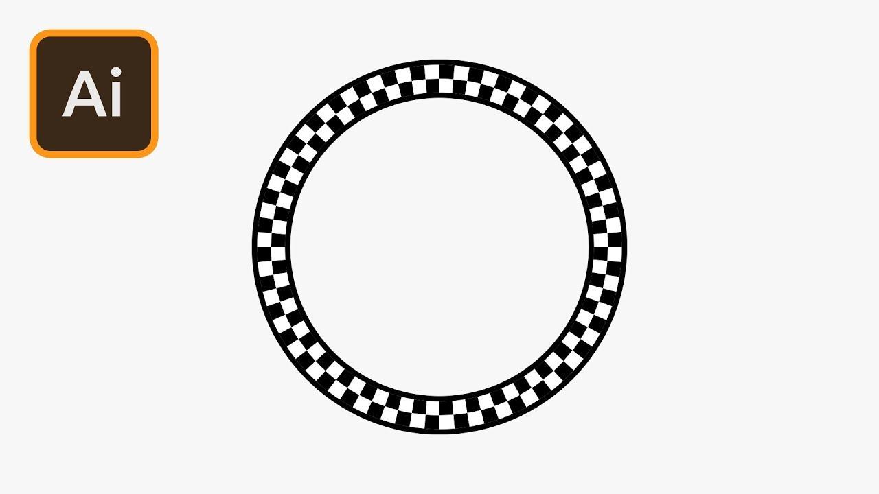 checkered art brush illustrator tutorial youtube