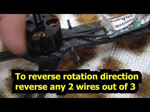 How to reverse Brushless motor Rotation Direction (CW, CCW nut)