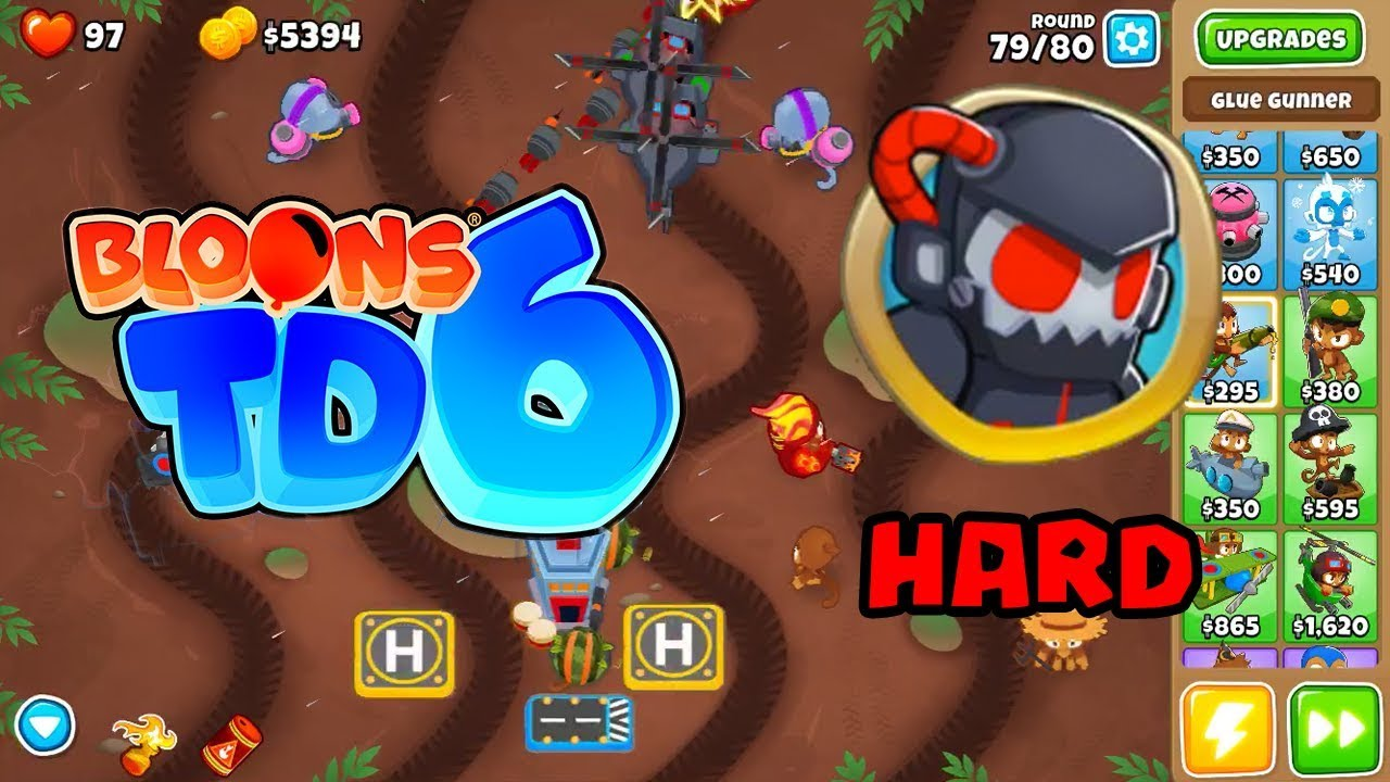 BTD6 MUDDY PUDDLES on HARD (NO Powers or Double Cash)