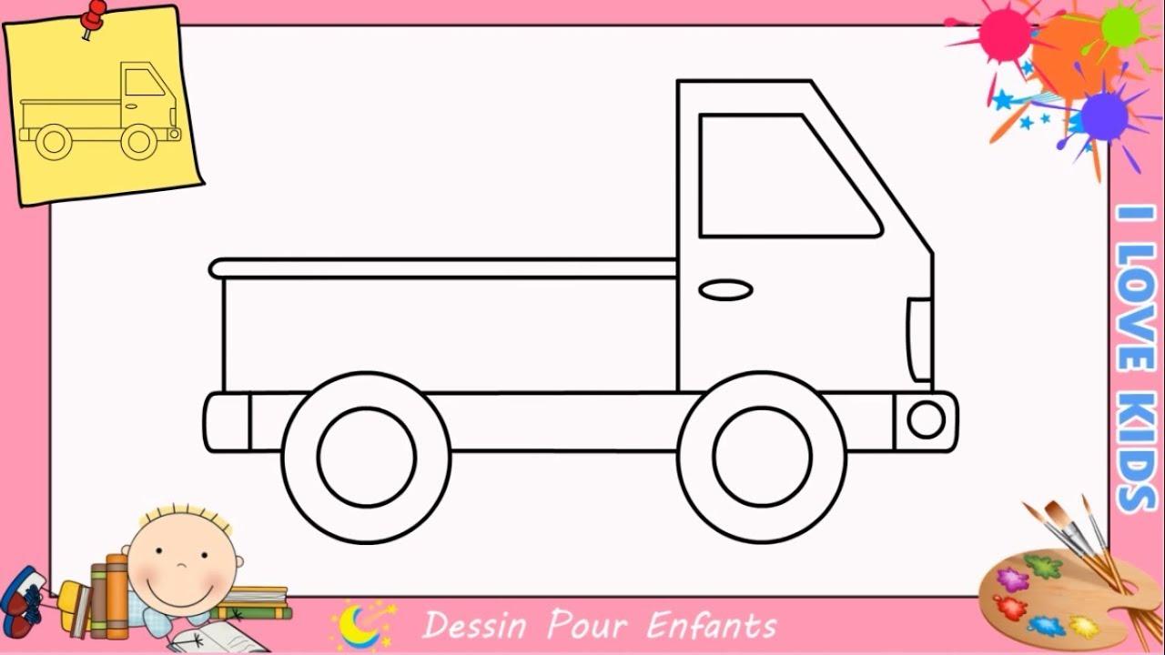 Comment dessiner un camion facilement etape par etape pour enfants 3 youtube - Dessin pompier facile ...