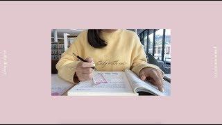 music ver. STUDY WITH ME  | 도서관에서 같이공부해요! (real time, with music, 공부소음 ) | 수린 suzlnne