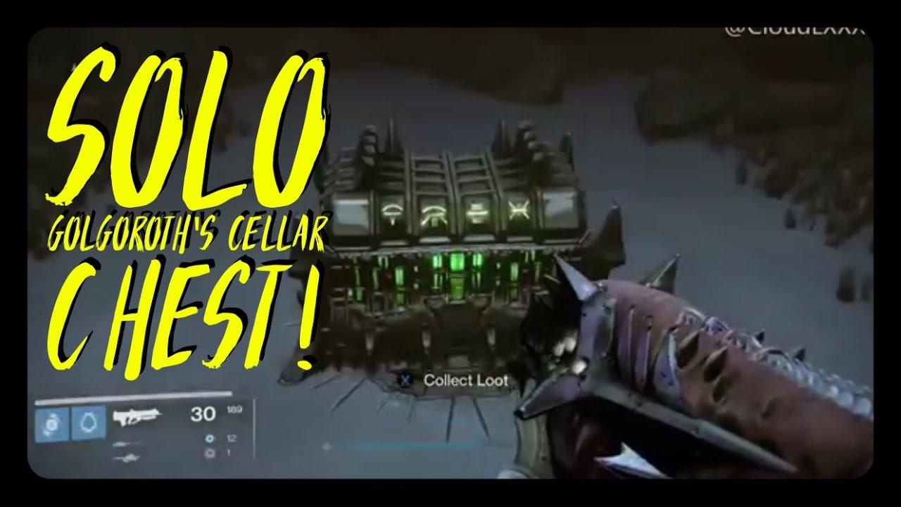 Destiny Glitches Solo Golgoroths Cellar Chest New Cheese Youtube