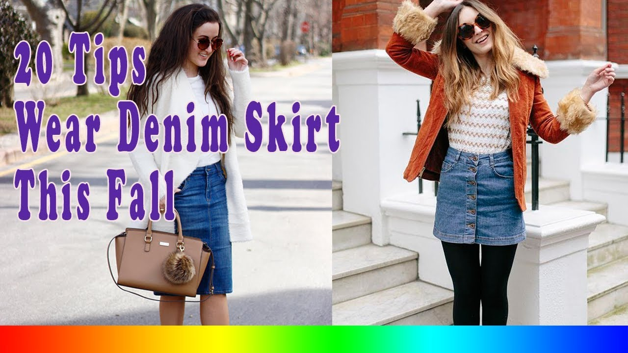 8b737260047 20 Style Tips On How To Wear A Denim Skirt This Fall - YouTube
