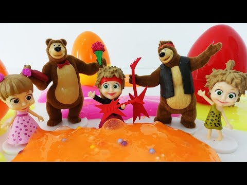 МАША и МЕДВЕДЬ игрушки из Свит Бокс Sweet Box. Маша и Мишка игрушки вся коллекция Сюрпризы и Слаймы
