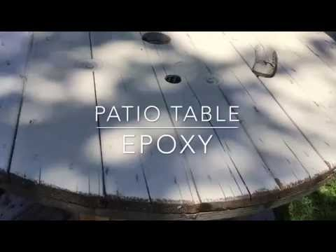 Epoxy Patio Table