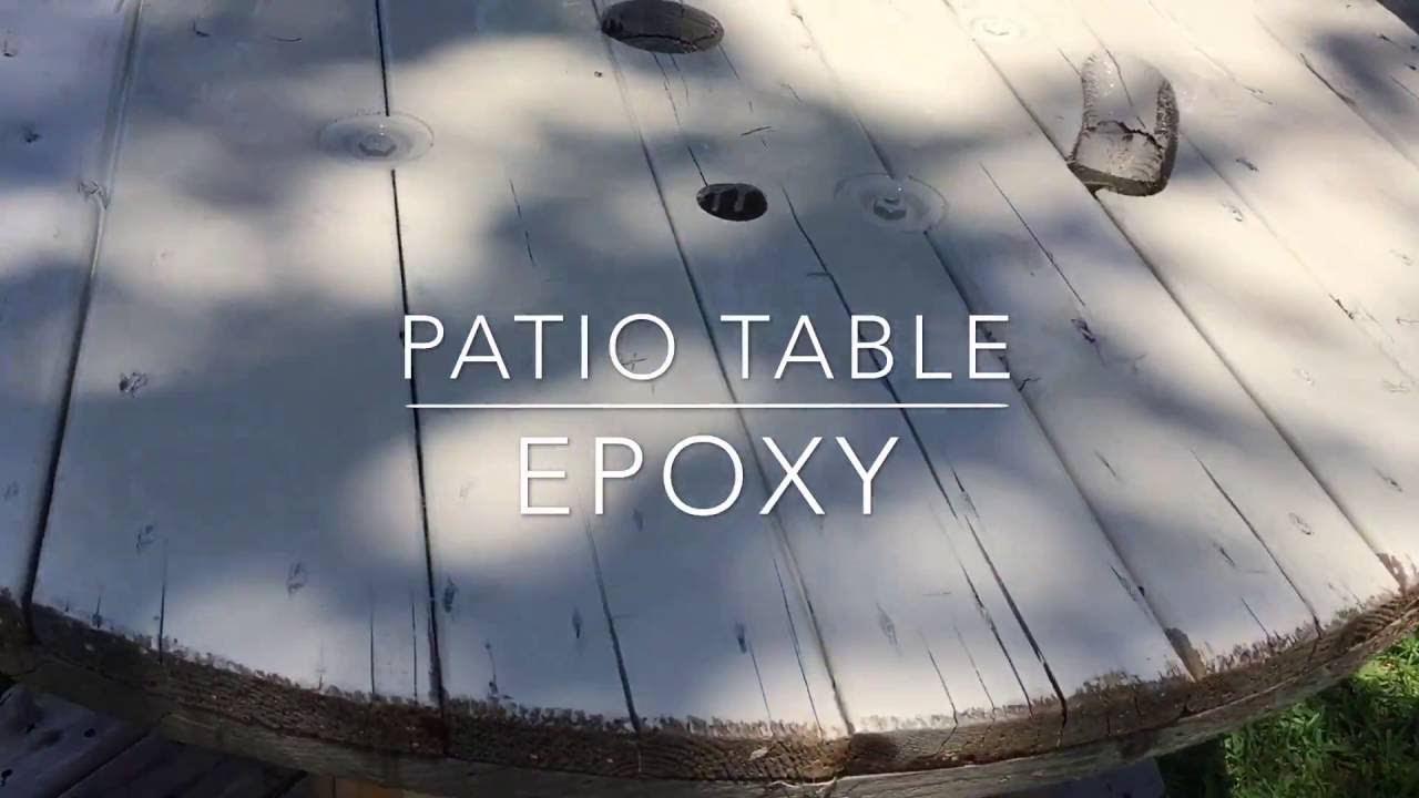 Epoxy Patio Table