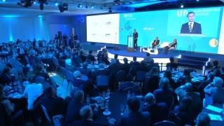 El Presidente Macri habla en el cierre de la 24 Conferencia de la UIA