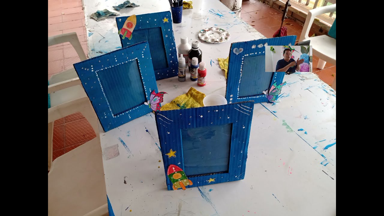 clase del curso de pintura 24 Julio