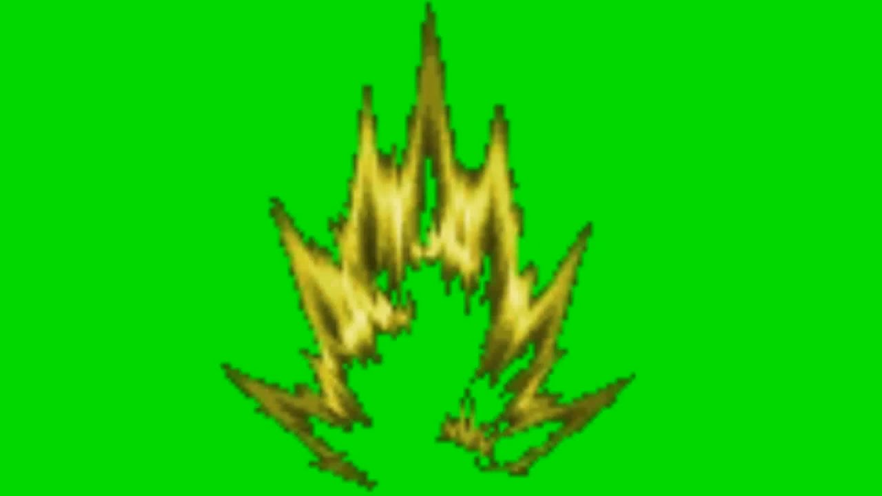 Manycam effect super saiyan hair - Super Saiyan Flame Aura Sprite Animation Green Screen
