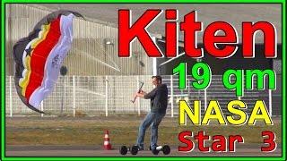 Kiten extreme - 19 qm + 12 qm Kite und Street Kiten mit Pink Panter & 2sogar [Vlog HD]
