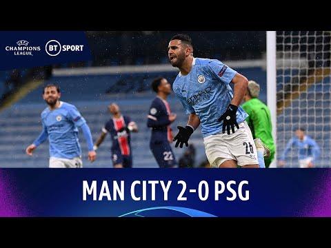 Man City v PSG (2-0)   Mahrez Brace As Citizens Reach First-Ever Final   Champions League Highlights