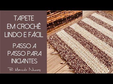 Tapete em Crochê Lindo e Fácil - Passo a passo para iniciantes - por Marcelo Nunes