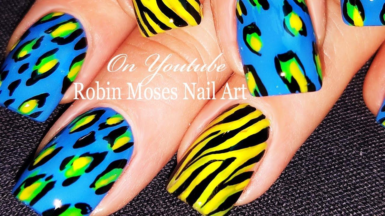 Animal print nails diy zebra and leopard nail art design for animal print nails diy zebra and leopard nail art design for beginners tutorial solutioingenieria Gallery