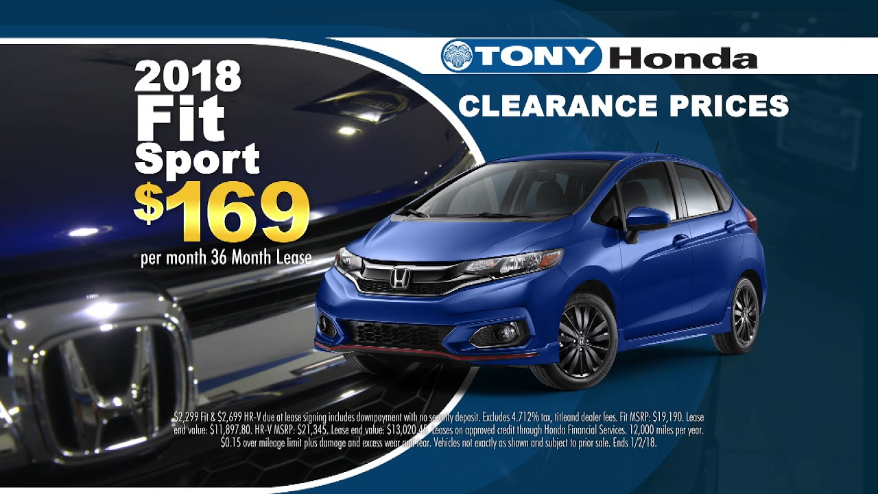 2017 Year End Clearance Event   Tony Honda
