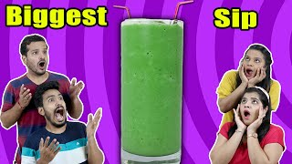 BIGGEST SIP CHALLENGE | PUNISHMENT CHALLENGE | Hungry Birds