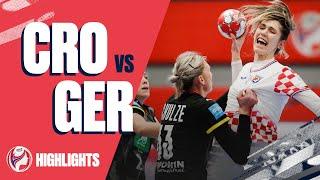 Highlights Croatia vs Germany Main Round Women s EHF EURO 2020