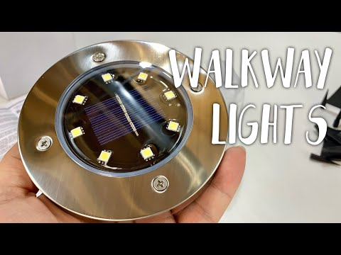 Solar In-Ground Lawn Pathway Disk Lights by OKWINT Review
