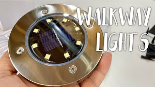 Gambar cover Solar In-Ground Lawn Pathway Disk Lights by OKWINT Review