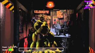 Golden Freddy First Try! NEW GAME! 5 Nights At Freddys DEMO+Free Download Link
