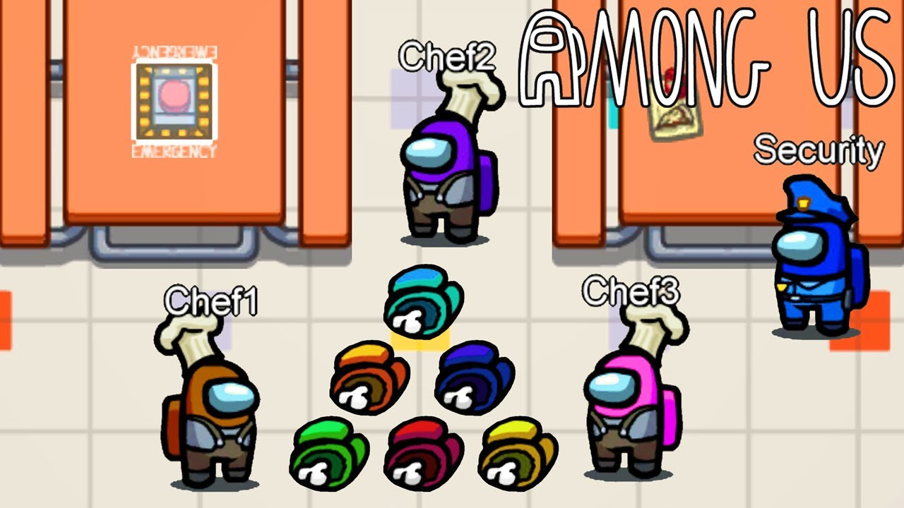 Chefs in Cafeteria Challenge on Among Us! - download from YouTube for free