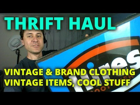 E17 Thrift Haul Vintage & Brand Clothing, Vintage Items, Cool Stuff  to resell on eBay and Etsy