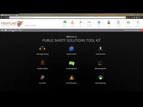 Frontline Public Safety Software Toolkit - Frontline Public