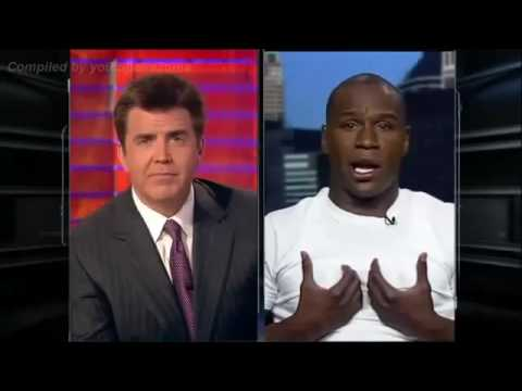 Floyd Mayweather murders loser journalist