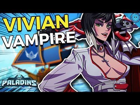 MASTER OF ARMS, VIVIAN? MAX AMMO REFUND BUILD! Contessa Vivian Gameplay (Paladins 1.6) - 동영상